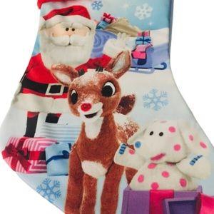 NWT Christmas Stocking Rudolf Santa Rankin-Bass
